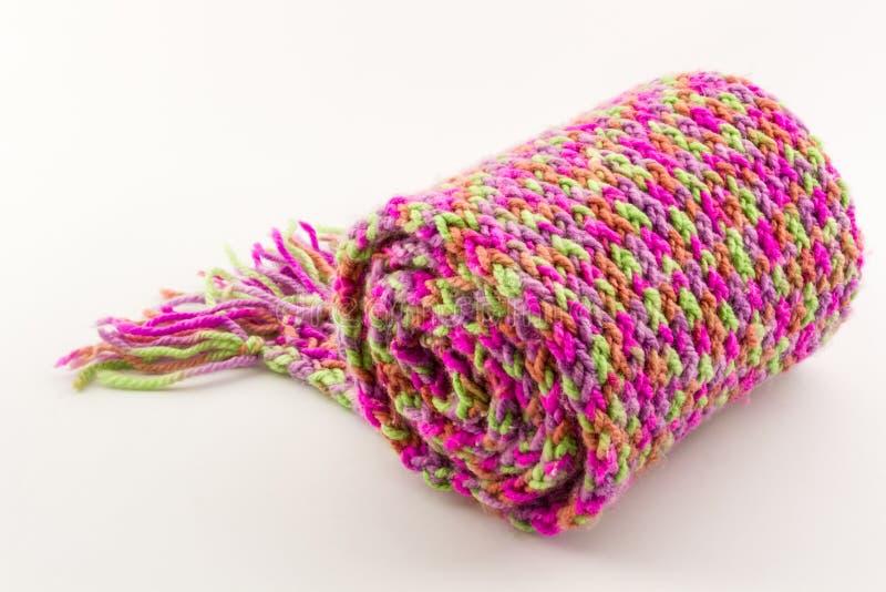 Rollo de la bufanda colorido. foto de archivo libre de regalías