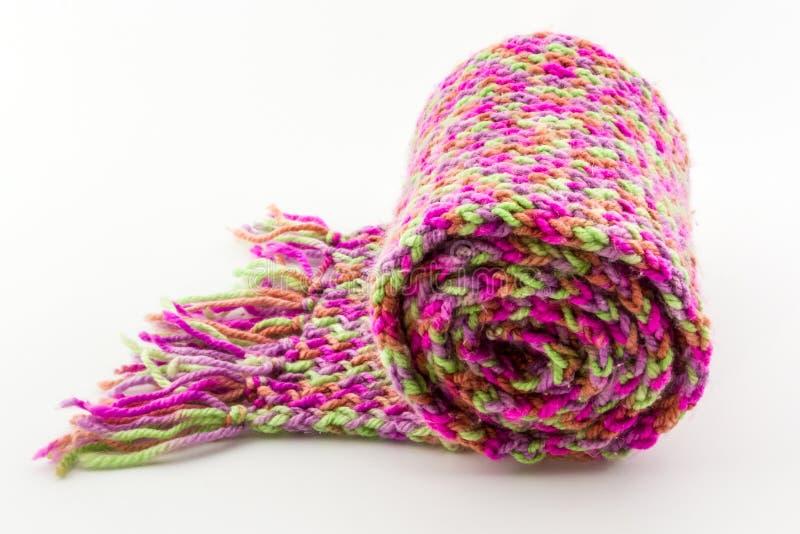 Rollo de la bufanda colorido. imagen de archivo libre de regalías
