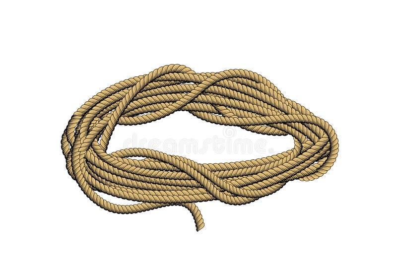 Rollo de la cuerda stock de ilustración