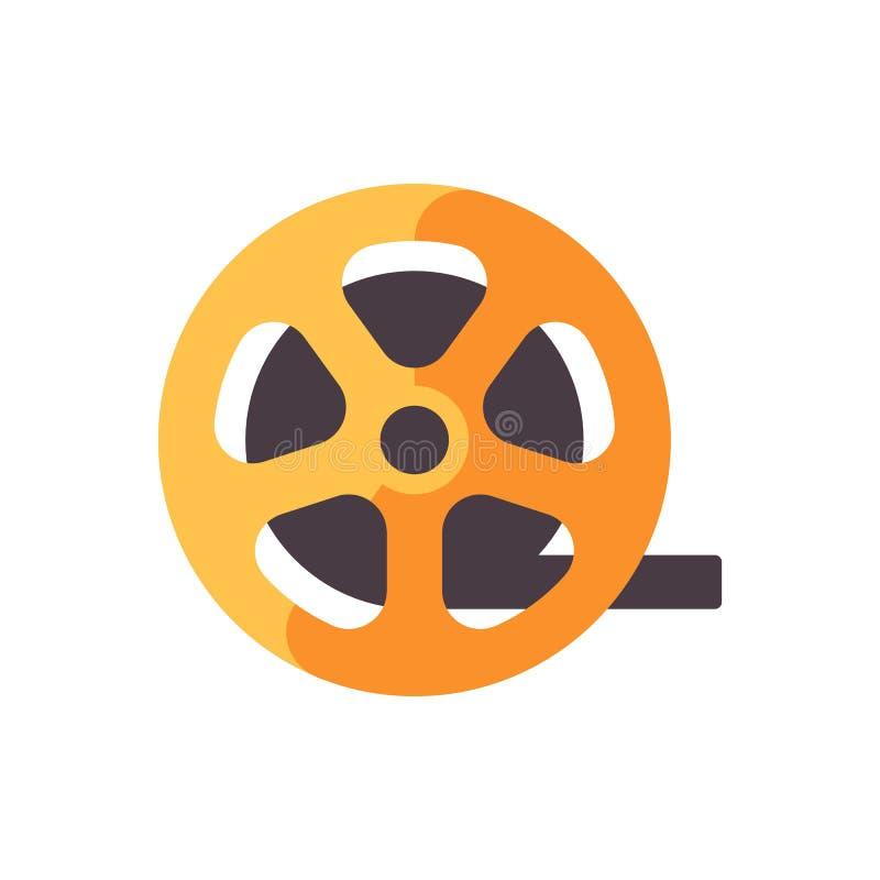 Rollo de la tira de la pel?cula Icono plano de la cinematografía stock de ilustración