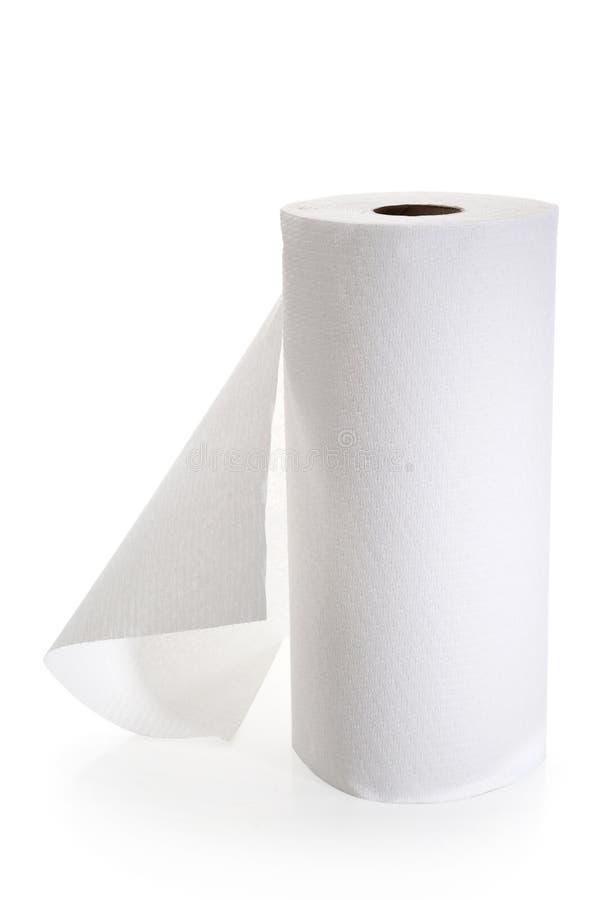 Rollo de la toalla de papel imagenes de archivo