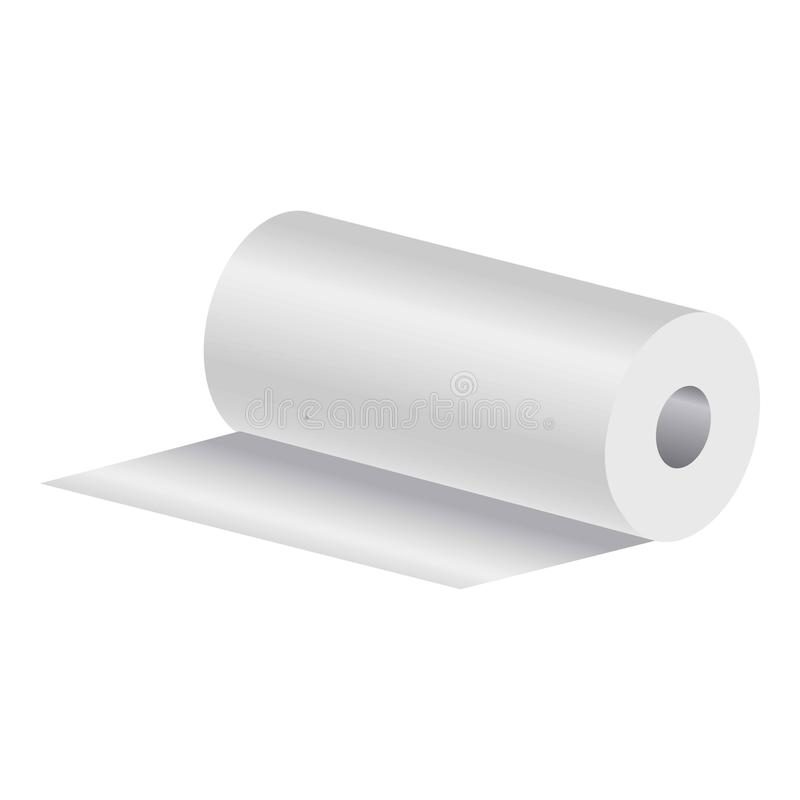 Rollo de las toallas de papel ilustración del vector