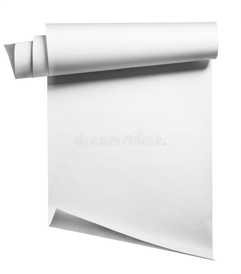 Rollo de papel, aislado imagen de archivo