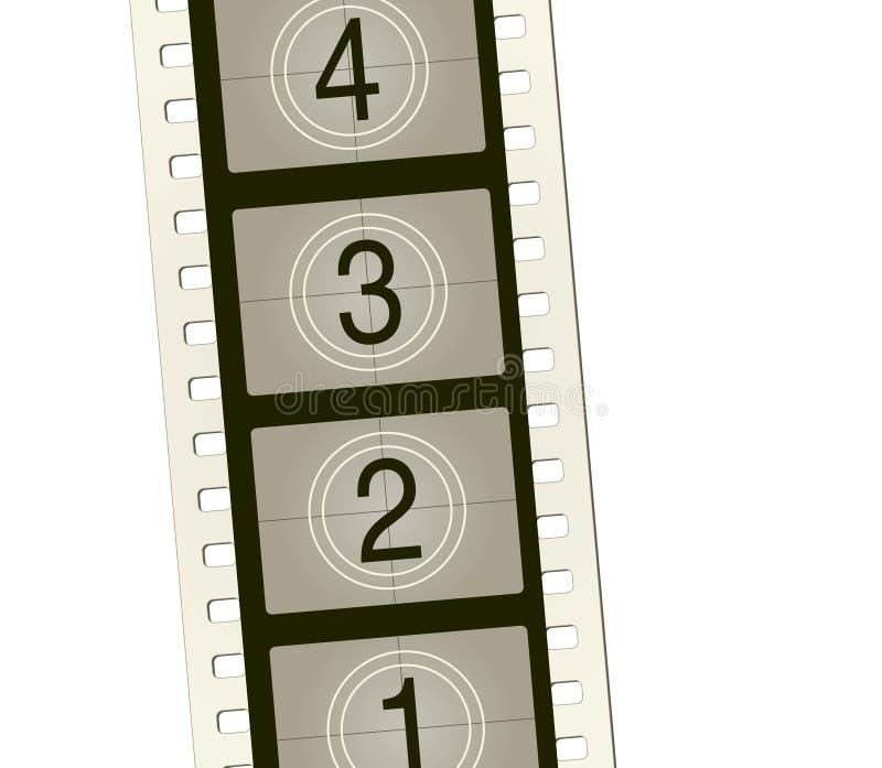 Rollo de película del vector con cuenta vieja-syle fotos de archivo libres de regalías