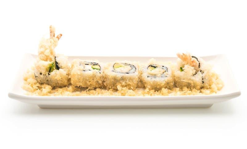 rollo de sushi del camarón del tempura - estilo japonés de la comida fotografía de archivo