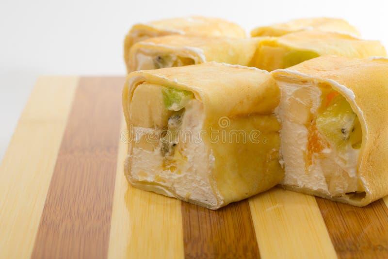 Rollo de sushi dulce fotos de archivo libres de regalías
