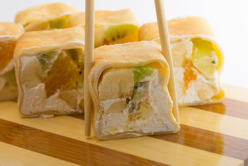 Rollo de sushi dulce foto de archivo libre de regalías