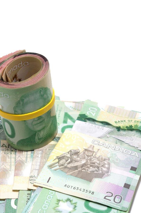 Rollo de veinte dólares canadienses foto de archivo