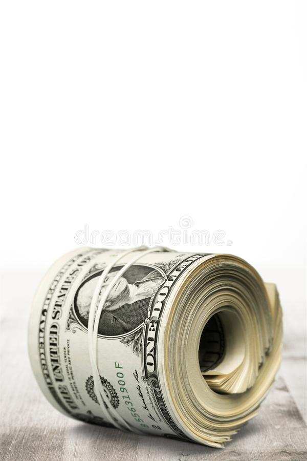 Rollo del dinero foto de archivo libre de regalías
