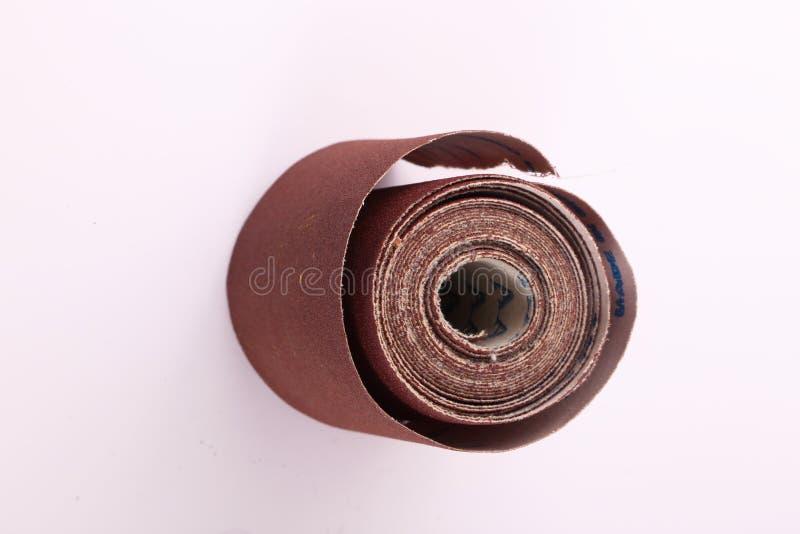 Rollo del papel de lija fotografía de archivo libre de regalías
