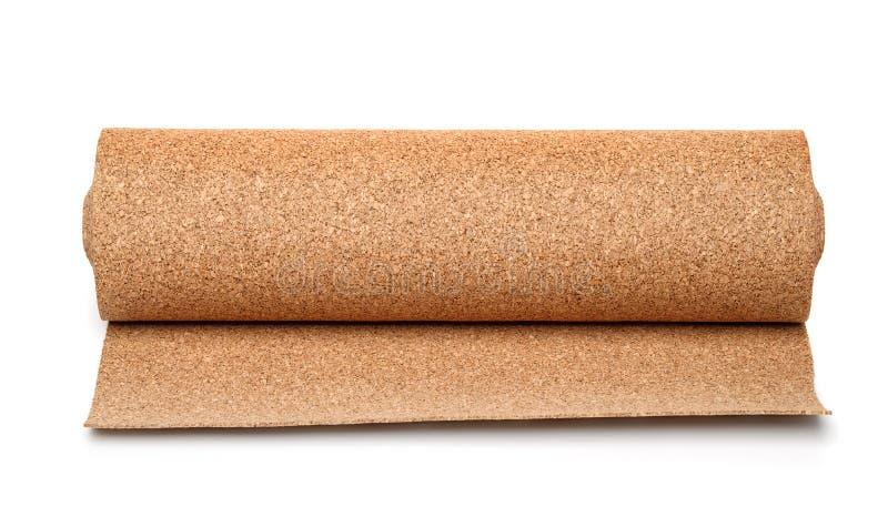 Rollo del underlayment del suelo del corcho imágenes de archivo libres de regalías