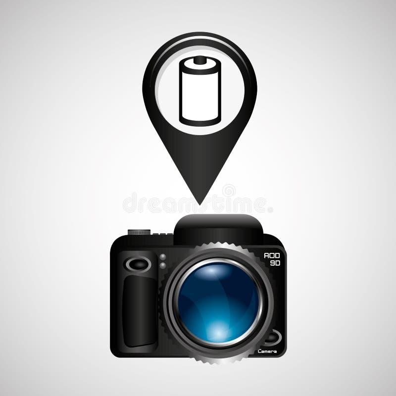 Rollo negativo de la cámara de la foto de Digitaces libre illustration