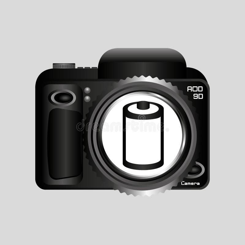 Rollo negativo de la cámara de la foto de Digitaces stock de ilustración