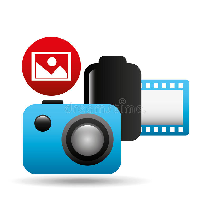 Rollo negativo de la imagen de la cámara fotográfica ilustración del vector