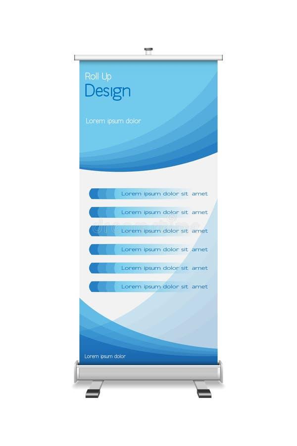 Rollo-para arriba con el diseño de la plantilla libre illustration