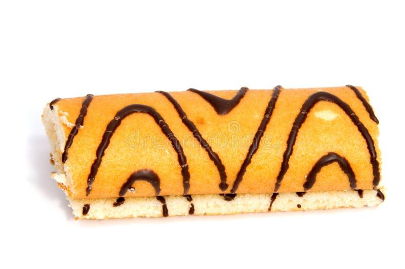 Rollo suizo de la galleta en blanco fotos de archivo libres de regalías
