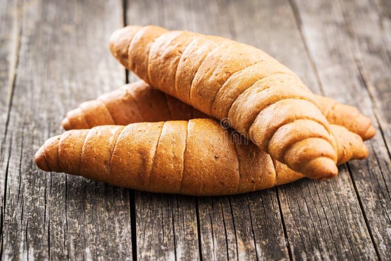 Rollos de pan salados foto de archivo libre de regalías
