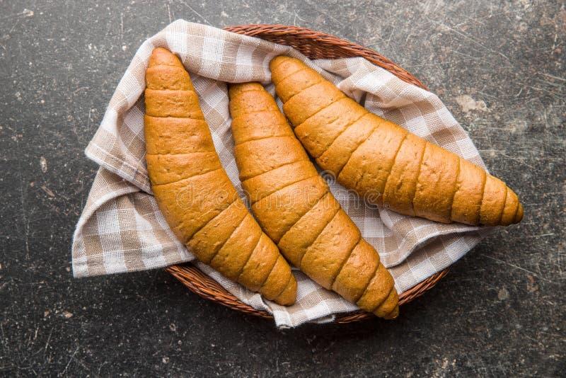 Rollos de pan salados foto de archivo