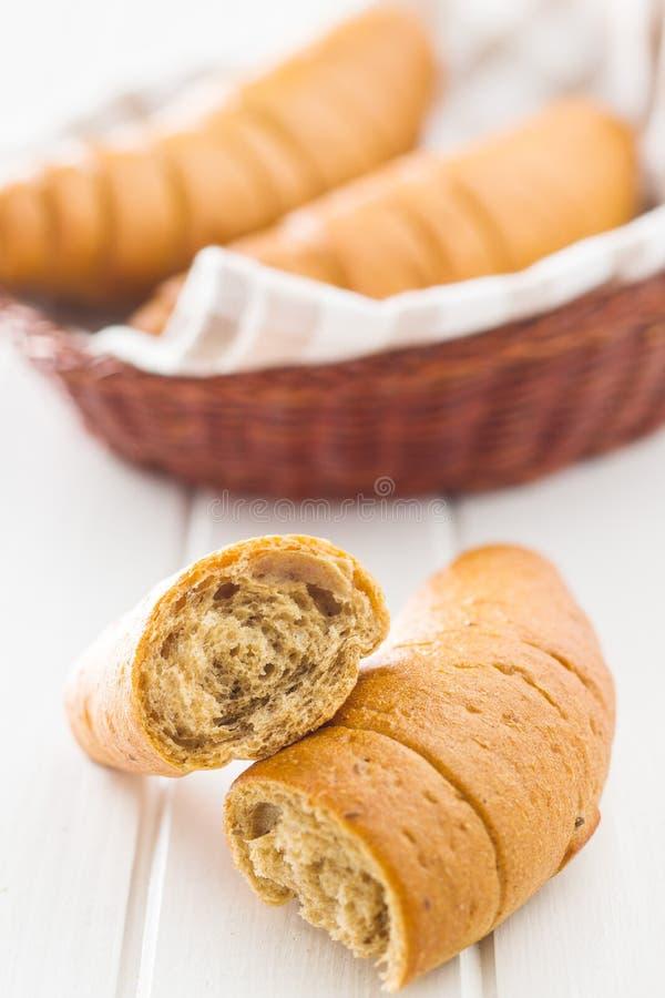 Rollos de pan salados fotos de archivo libres de regalías