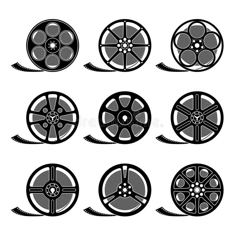 Rollos de película stock de ilustración