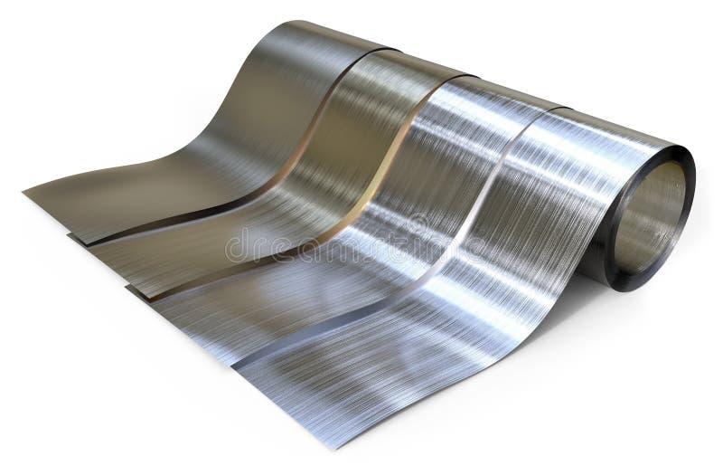 Rolls фольги металла бесплатная иллюстрация