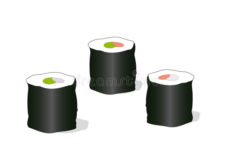 Rolls illustration stock