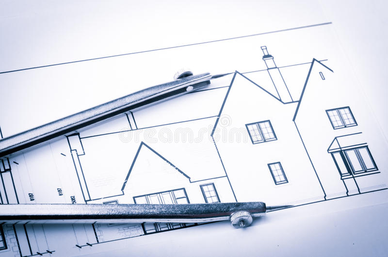 Rolls of architecture blueprints and house plans stock illustration download rolls of architecture blueprints and house plans stock illustration illustration of measurement drawing malvernweather Images