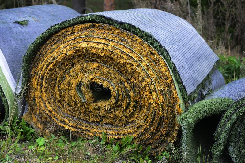 Rolls av konstgjord torva royaltyfria foton