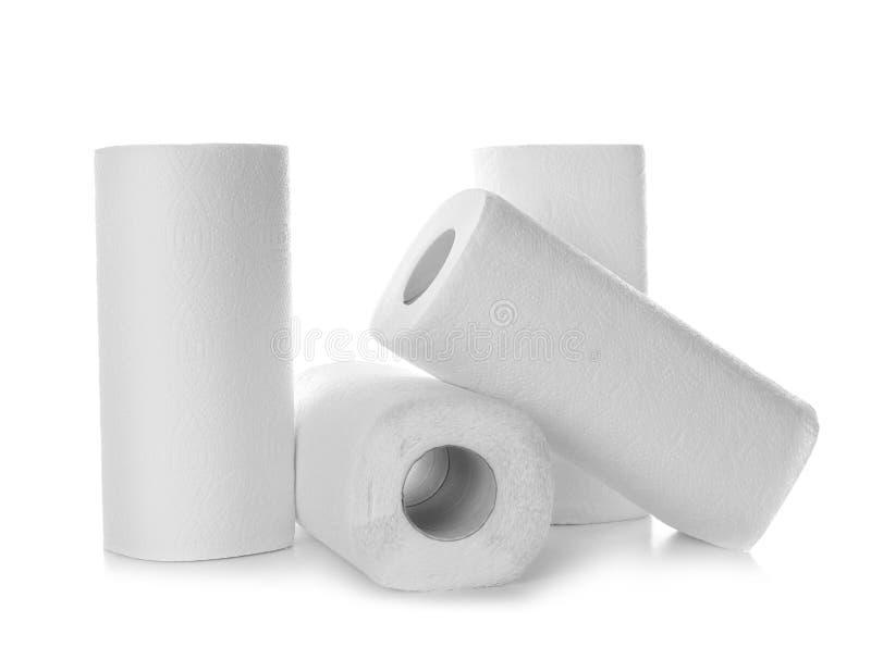 Rolls av pappers- handdukar arkivbild