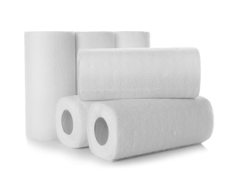Rolls av pappers- handdukar royaltyfria bilder