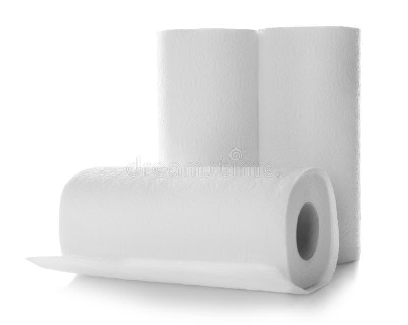Rolls av pappers- handdukar royaltyfri bild