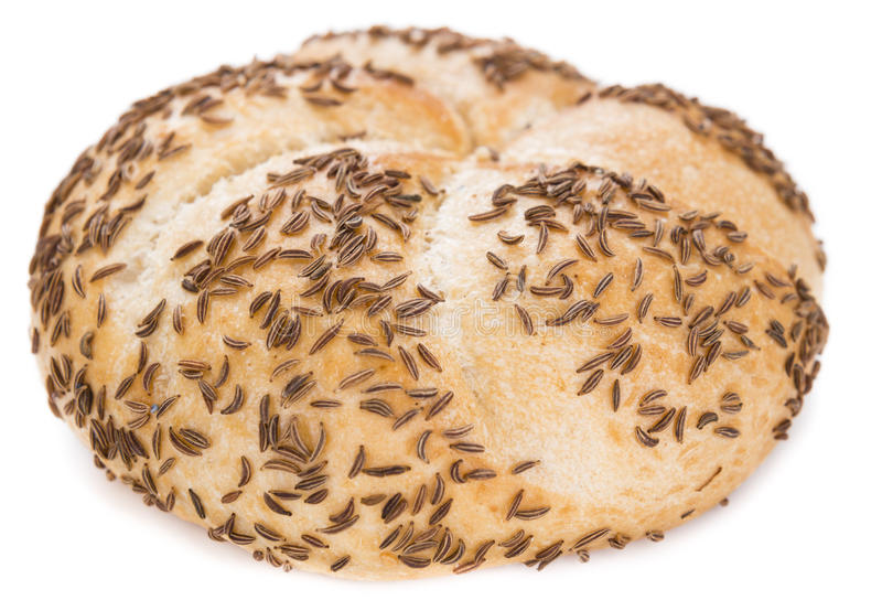 Rolls with Caraway (over white) stock image