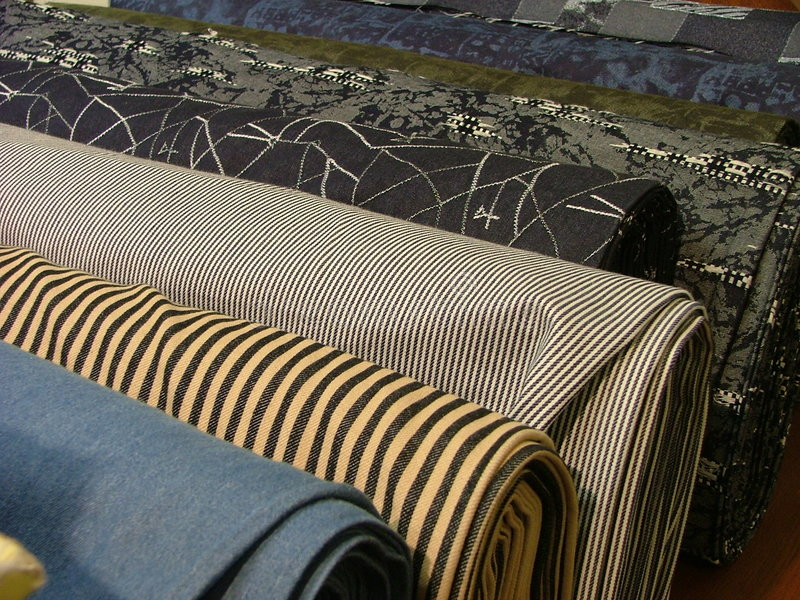 Rolls of cloth
