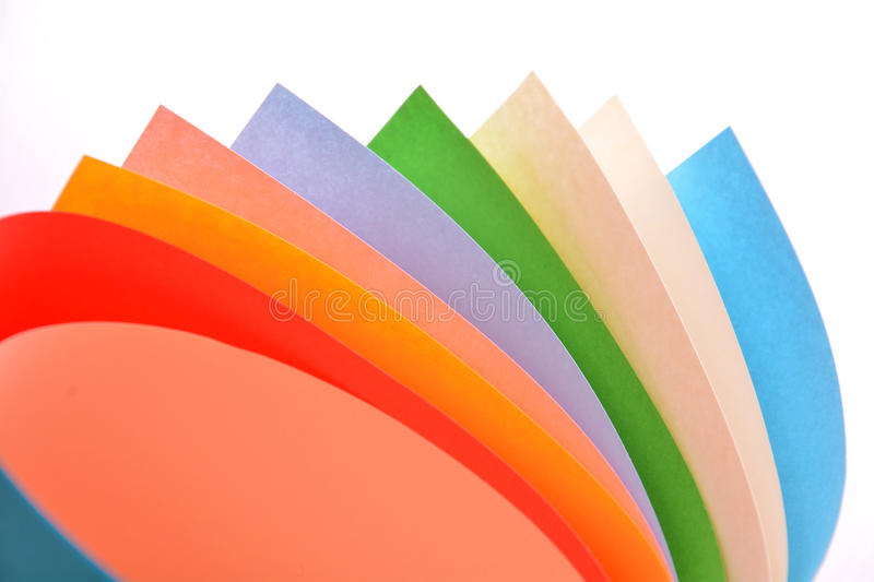 Rolls of color paper. Bright rolls of color paper isolated on white royalty free stock photo