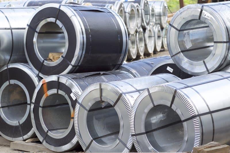 Rolls d'acier galvanisé laminé à froid avec le revêtement en polymère photo libre de droits