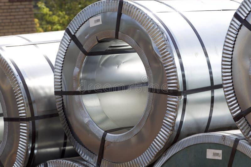Rolls d'acier galvanisé laminé à froid avec le revêtement en polymère photos libres de droits