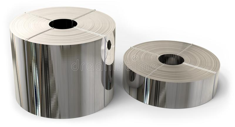 Rolls da folha de metal ilustração do vetor