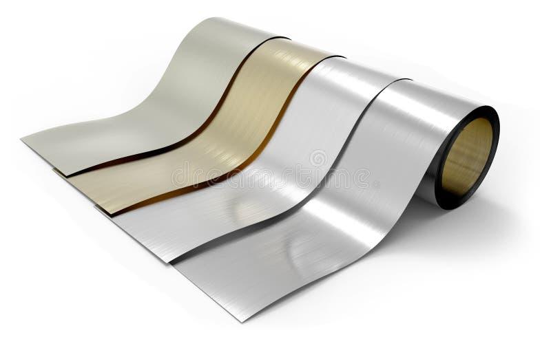 Rolls da folha de metal ilustração royalty free