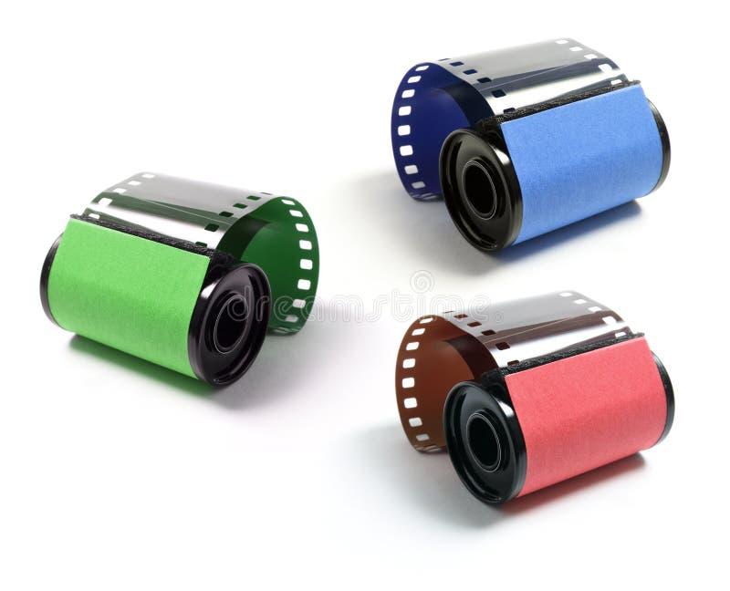 Rolls de la película de la cámara fotografía de archivo