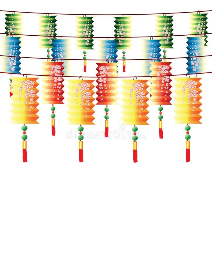 Download Rolls De Lanternas Chinesas Multi-color Ilustração do Vetor - Ilustração de celebration, gracious: 16850641