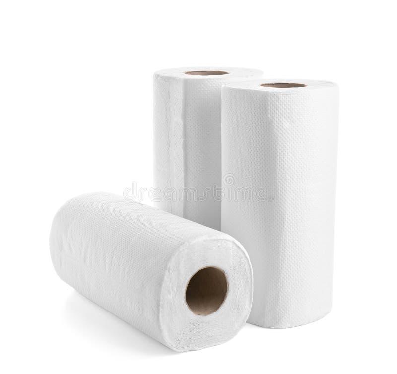 Rolls de las toallas de papel fotos de archivo
