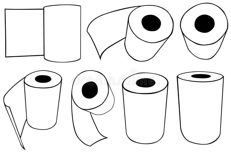 Rolls de las toallas de papel stock de ilustración