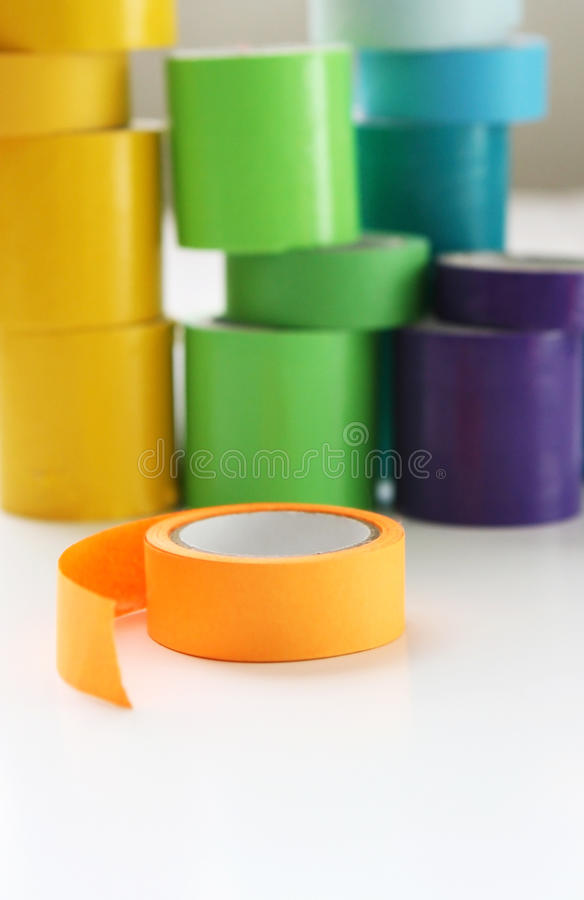 Multi colore Rolls del nastro immagini stock libere da diritti