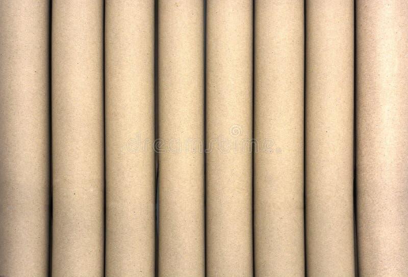 Rolls del papel marrón para el fondo de la textura imagenes de archivo