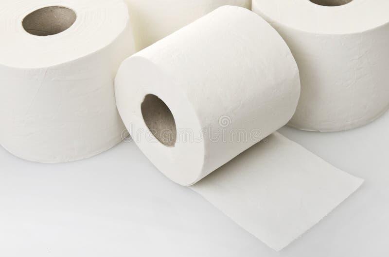 Rolls della carta igienica fotografie stock libere da diritti