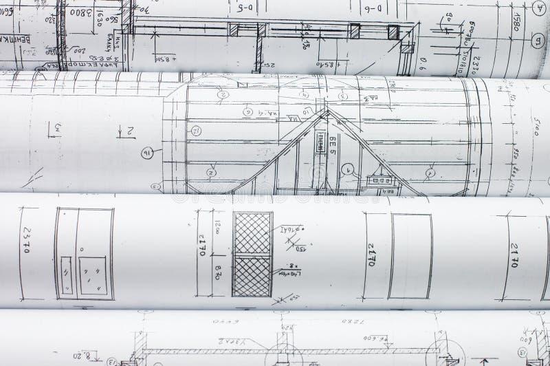 Rolls des dessins industriels photo libre de droits