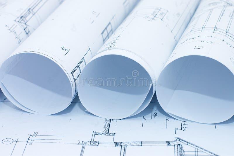 Rolls des dessins industriels image libre de droits