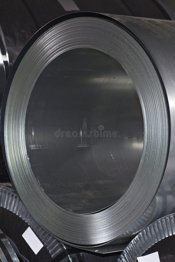 Rolls des kaltgewalzten galvanisierten Stahls auf Lager stockfoto