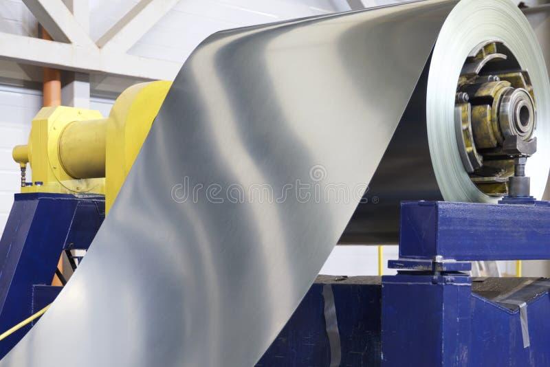 Rolls des kaltgewalzten galvanisierten Stahls mit Polymerbeschichtung lizenzfreie stockbilder