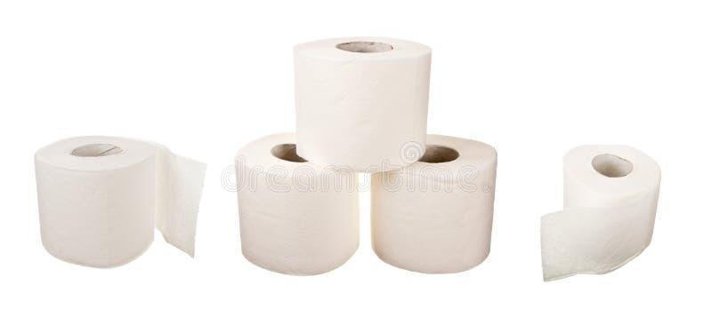 Rolls des Toilettenpapiers stockbild